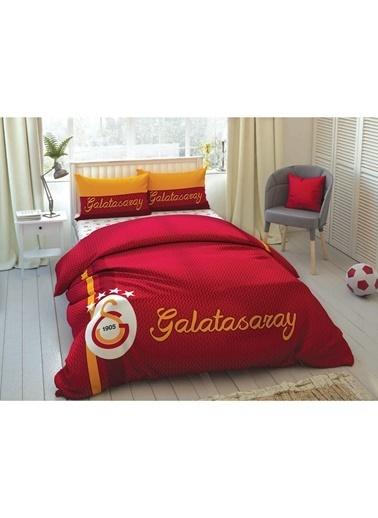 Taç Taç  Galatasaray Striped Nevresim Takımı Renkli